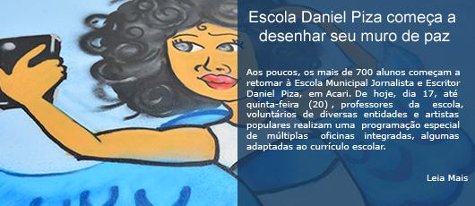 Escola Daniel Piza começa a desenhar seu muro de paz