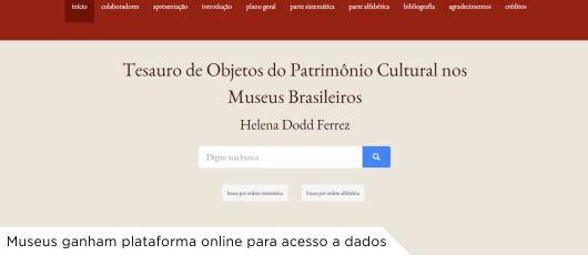 Museus ganham plataforma online para acesso a dados banner