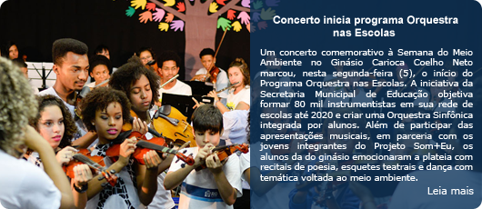 Concerto pelo Meio Ambiente marca início do Programa Orquestra nas Escolas