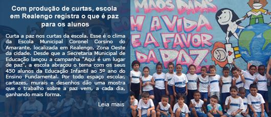 Com produção de curtas, escola em Realengo registra o que é paz para os alunos