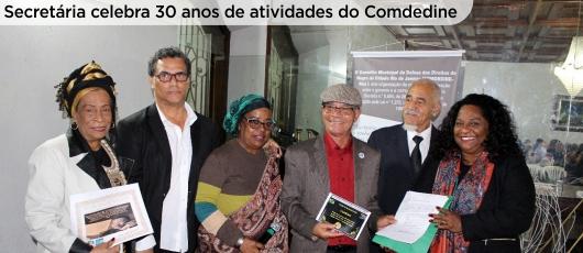 Aumentar fonte Diminuir fonte Secretária celebra 30 anos de atividades do Comdedine - banner