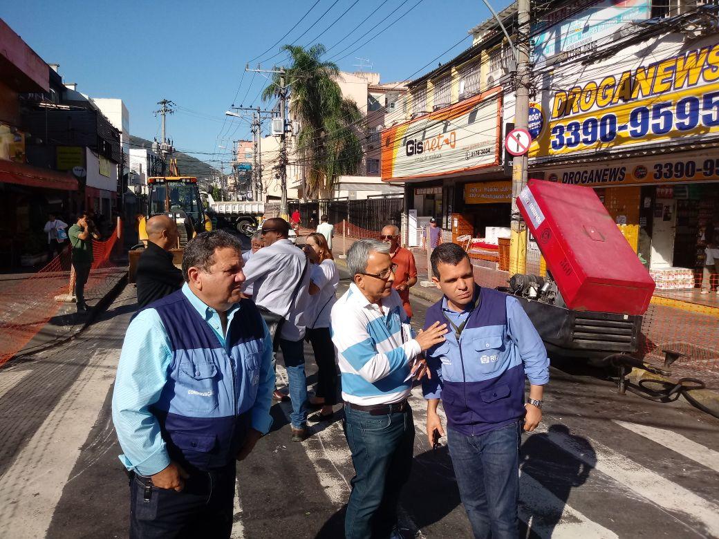 Prefeitura inicia obras de substituição de rede de drenagem em Madureira
