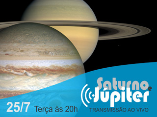 Transmissão ao vivo de Júpiter e Saturno