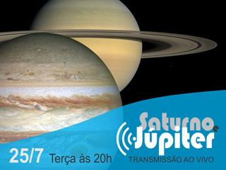 Transmissão ao vivo de Júpiter e Saturno