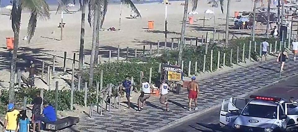 Guardas apreendem dois adolescentes flagrados por câmera em Ipanema
