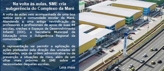 Na volta às aulas, SME cria subgerência do Complexo da Maré
