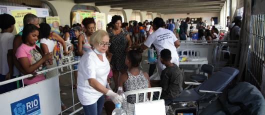 Com mais de cinco mil beneficiados, Rio em Ação atende Cidade de Deus