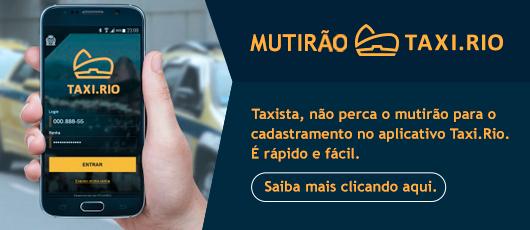 Mutirão para cadastramento de taxistas no Taxi.Rio começa neste sábado