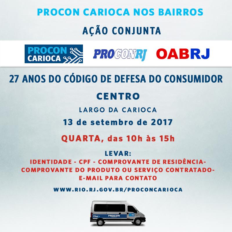 Órgãos de defesa do consumidor celebram os 27 anos do CDC com atendimento na Carioca