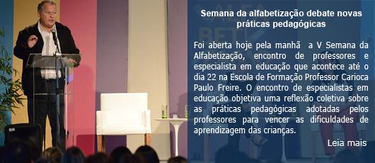 Semana da alfabetização debate novas práticas pedagógicas