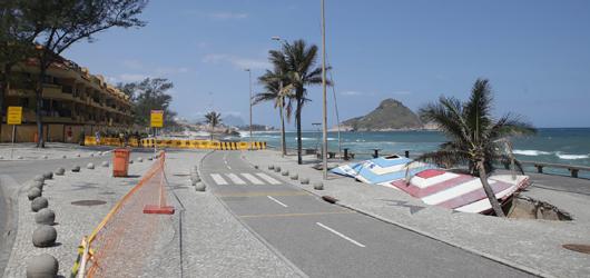 Seconserma inicia obras emergenciais de contenção na praia da Macumba
