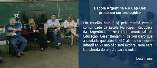 Escola Argentina e o Cap-Uerj precisam ser protegidos
