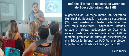 Infância é tema de palestra da Gerência de Educação Infantil da SME