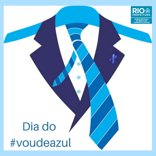 Servidores demonstram apoio no dia do #voudeazul