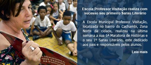 Escola Professor Visitação realiza com sucesso seu primeiro Sarau Literário