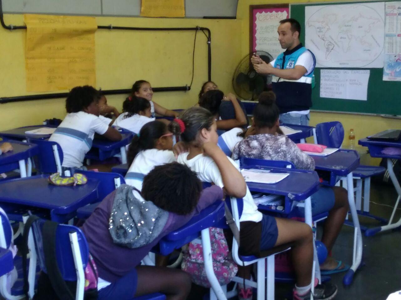 Defesa Civil do Rio realiza ação do projeto Escolas Sustentáveis e Resilientes em Ciep na Zona Norte