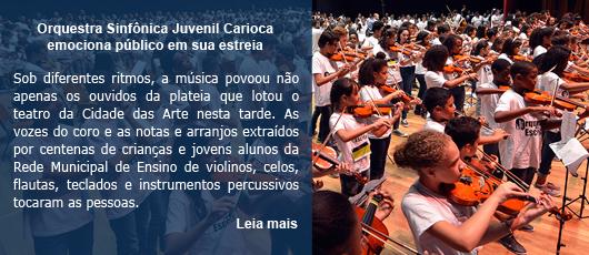 Orquestra Sinfônica Juvenil Carioca emociona público em sua estreia