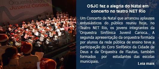 OSJC fez a alegria do Natal em concerto no teatro NET Rio