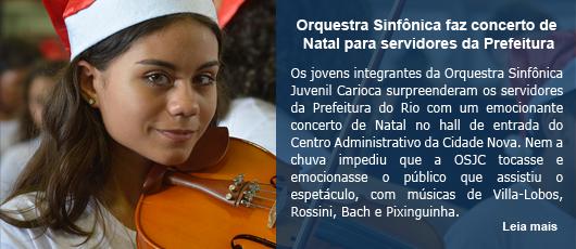 Orquestra Sinfônica faz concerto de Natal para servidores da Prefeitura