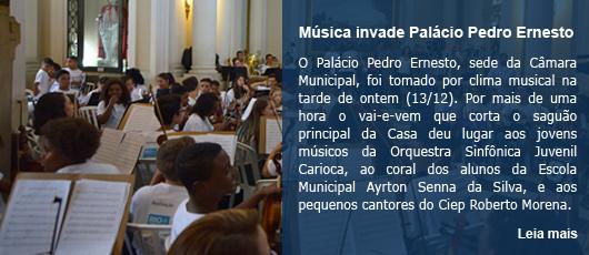 Música invade Palácio Pedro Ernesto