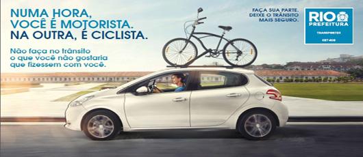 CET Rio lança campanha de educação para o trânsito em diversas mídias.