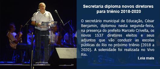 Secretaria diploma novos diretores para triênio 2018-2020