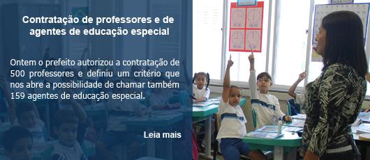Contratação de professores e de agentes de educação especial