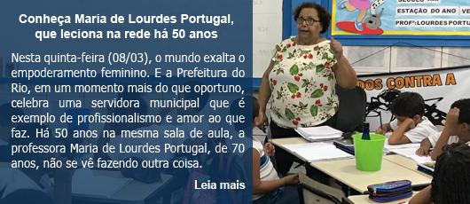 Conheça Maria de Lourdes Portugal, que leciona há 50 anos na rede