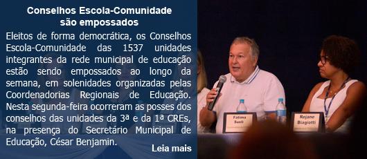 Conselhos Escola-Comunidade são empossados