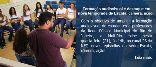 Formação audiovisual é destaque em nova temporada de Escola, câmera, ação!