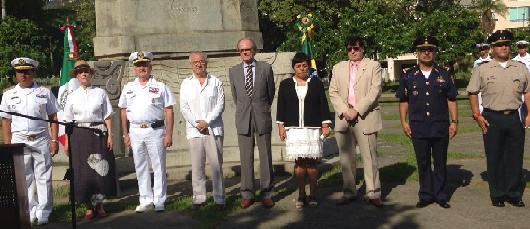 Autoridades homenageiam o Imperador Cuauhtémoc em Botafogo