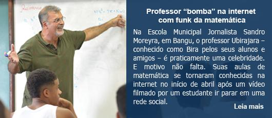 "Professor ""bomba"" na internet com funk da matemática"