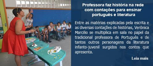 Professora faz história na rede com contações para ensinar português e literatura