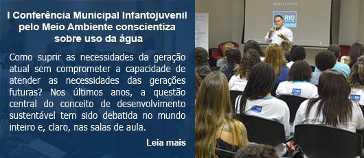 I Conferência Municipal Infantojuvenil pelo Meio Ambiente conscientiza sobre uso da água