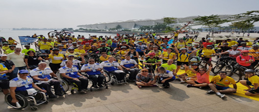 CET Rio participa do Pedal da Paz no Trânsito em comemoração ao Maio Amarelo