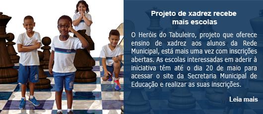 Projeto de xadrez recebe mais escolas