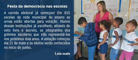 Festa da democracia nas escolas
