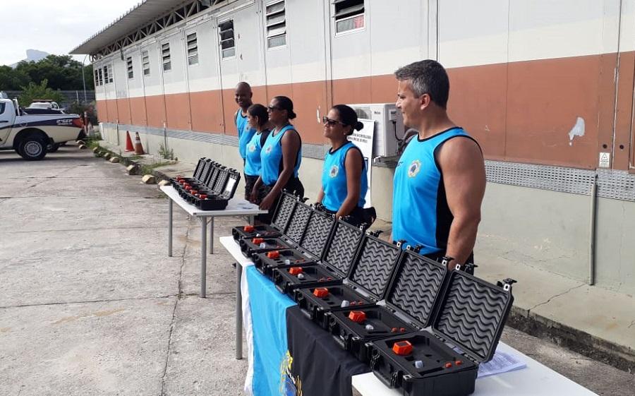 Grupamento Especial de Praia realiza atualização para uso de Instrumento de Menor Potencial Ofensivo