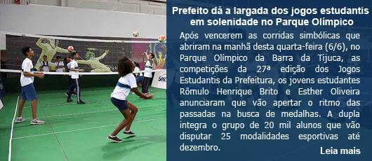 Prefeito dá a largada dos estudantis em solenidade no Parque Olímpico