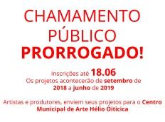 CHAMAMENTO PÚBLICO  PARA EXPOSIÇÕES DE ARTE CONTEMPORÂNEA E OUTRAS ATIVIDADES