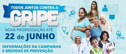 Prorrogação campanha gripe 22 de junho