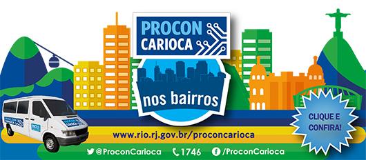 Banner Rotativo Procon Carioca nos bairros na Copa