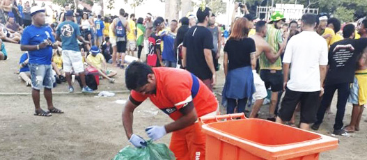 Comlurb monta esquema especial de limpeza para Brasil x Bélgica
