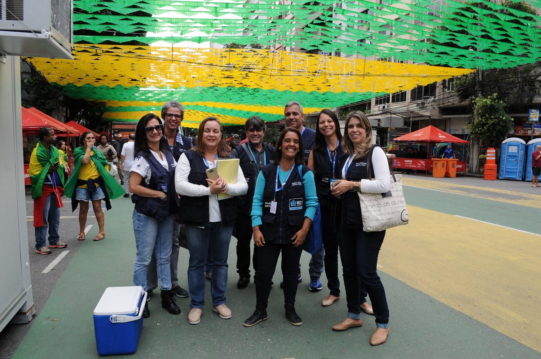 Técnicos da Vigilância Sanitária bateram um bolão na Copa 2018