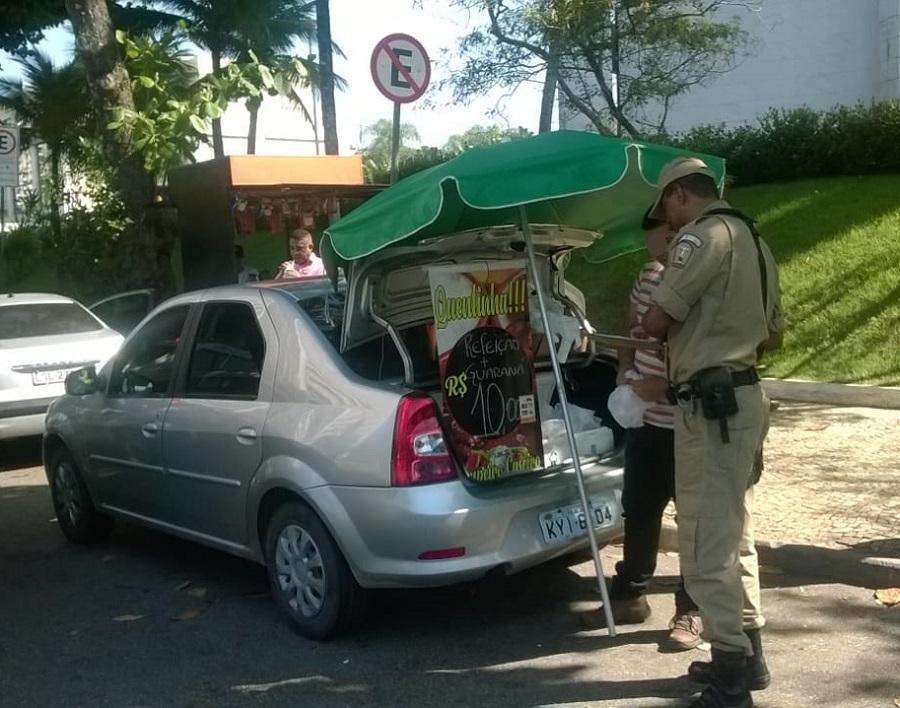 Guarda Municipal realiza operação para coibir venda irregular de quentinhas na Barra e Recreio