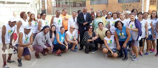 Reinauguração do Rio ao Ar Livre nos conjuntos do IAPI, na Penha
