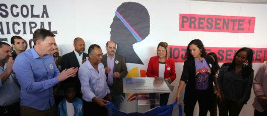 Prefeito inaugura Escola Municipal Vereadora Marielle Franco na Maré