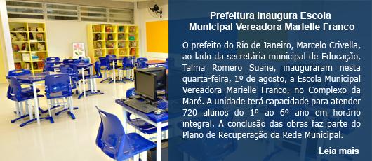 Prefeitura inaugura Escola Municipal Vereadora Marielle Franco