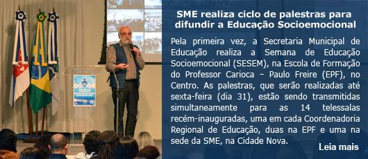 SME realiza ciclo de palestras para difundir a Educação Socioemocional