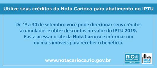 Banner nota carioca 2018
